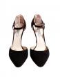 Escarpins avec bride cheville en suede noir Px boutique 600€ Taille 40