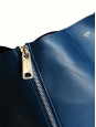 Sac cabas GUSSET en cuir lisse bleu outremer Px boutique 1250€