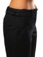 Pantalon droit à pli en laine et soie brun noir Prix boutique 650€ NEUF Taille 36/38