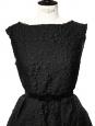 Ceinture noeud en velours et soie noire Px boutique 500€ Taille S