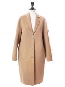 Manteau AVALON oversize en laine et cachemire beige camel Px boutique 950€ Taille 34