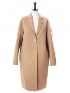 AVALON Camel beige wool and cashmere-blend oversized coat Retail price €950 Size 34