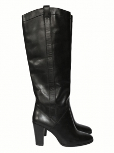 CALIE Black leather knee length boots NEW Retail price €690 Size 38