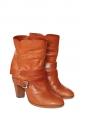 Biker ankle boots in tan leather Retail price €600 Size 39