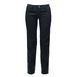 Steel blue cotton denim straight cut pants NEW Retail price €400 Size 36