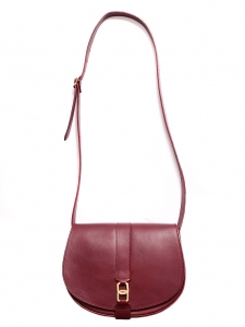 & A.P.C Dark burgundy red leather cross-body bag Retail price €430
