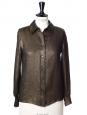 Gold and black lamé silk fluid ALBERT shirt Retail price €560 Size 34