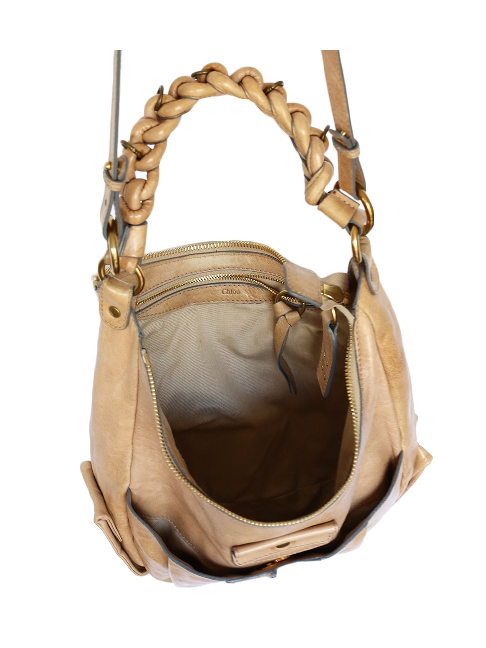 Louise Paris - CHLOE HELOISE Small hobo crossbody bag in champagne beige  leather Retail price €890 4567c87aa4c06