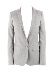 Grey wool cinched blazer jacket Retail price €1200 Size 34
