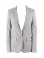 Grey wool cinched blazer jacket Retail price €1200 Size 34/36