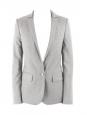 Grey wool cinched blazer jacket Retail price €1200 Size 34/36