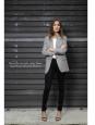 Veste blazer cintré en drap de laine gris Px boutique 1200€ Taille 34