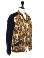 Veste teddy HAWK imprimé palmiers brun orange et bleu Px boutique 440€ Taille 36