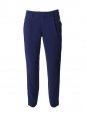 Navy blue crepe tapered pants Retail price €279 Size 36