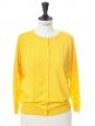 GENESIO Saffron yellow jersey cardigan Retail price €230 Size 36