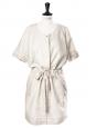 Robe saharienne en lin et coton beige sable Px boutique 300€ Taille 36