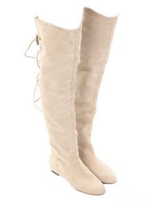Bottes cuissardes en suède beige clair Px boutique 1190€ Taille 38