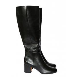 Bottes MILTON hautes à talon bas en cuir noir NEUVES Px boutique 1000€ Taille 39