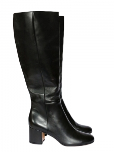 Black leather low heel boots NEW Retail price €1250 Size 39