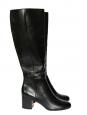 Bottes hautes MILTON à talon bas en cuir noir NEUVES Prix boutique 1000€ Taille 39