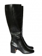MILTON Black leather low heel boots NEW Retail price €1000 Size 39