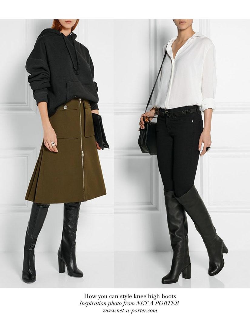 Bottes hautes à talon bas en cuir noir NEUVES Px boutique 1250\u20ac Taille  39