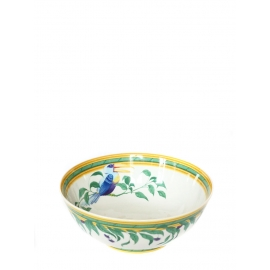 Saladier plat TOUCAN en porcelaine de Limoges NEUF Px boutique 500€