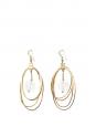 Boucles d'oreilles ellipses et pendentif en laiton plaqué or Px boutique 400€