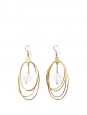 Gold plated brass ellipse pendant earrings Retail price €400