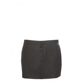 Mini jupe en laine et coton kaki foncé Px boutique 500€ Taille 36/38