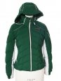 Veste technique de ski Femme ligne ALPINE slim fit vert blanc et noir Px boutique 700€ Taille 36