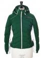 Alpine Line green white and black technic hooded slim fit ski jacket Retail price €700 Size 36