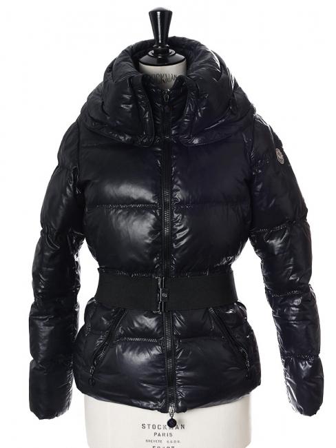 Veste doudoune de ski ALISO bleu nuit avec ceinture Prix boutique €750  Taille 1   79c5d4e5a01