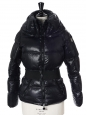 Shiny midnight blue down belted ALISO ski jacket Retail price €750 Size 1 / S