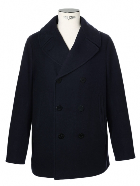 Louise Paris - POLO RALPH LAUREN Navy blue melton wool-blend peacoat ... a5500919e60
