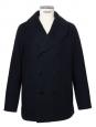 Manteau caban Homme en laine melton mélangée bleu marine Prix boutique 800€ Taille XL
