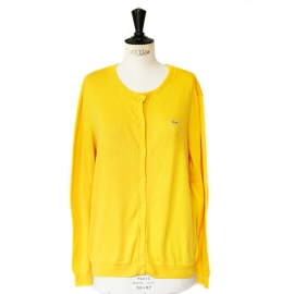 Sunny yellow cotton cardigan Retail price €95 Size M/L