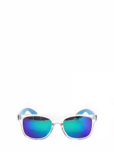 Mirror lenses sunglasses with neon blue frame NEW