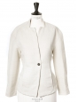 Cream white cotton cinched blazer jacket with raglan sleeves Retail price €350 Size 36