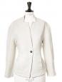 Veste blazer cintré manches raglan en coton tissé blanc crème Px boutique 350€ Taille 36