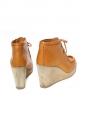 Bottines compensées en suède camel Px boutique 325€ Taille 39