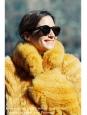 Manteau en laine et cachemire jaune or Px boutique 700€ Taille 38