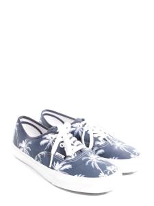 Baskets en toile bleu imprimée palmier Taille 42