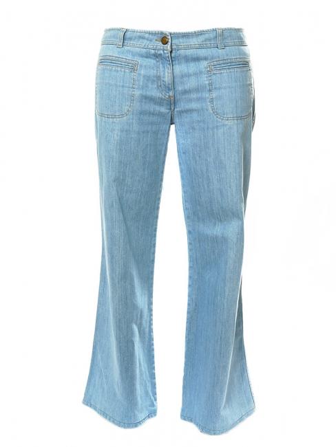 Jean 70s évasé en coton bleu clair Prix boutique 360€ Taille 42