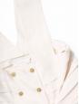 Top débardeur en soie plissée blanc ivoire et boutons dorés Px boutique 800€ Taille 38
