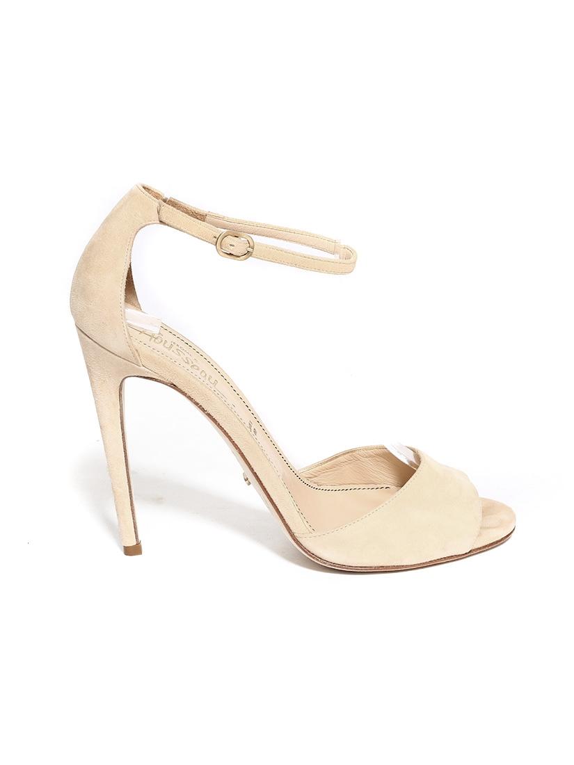 louise paris jerome c rousseau sandales talon en su de beige nude bride cheville et bout. Black Bedroom Furniture Sets. Home Design Ideas