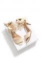 Sandales en toile ivoire bout ouvert et bride cheville à fleurs de cerisier Px boutique 700€ Taille 37,5