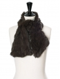 Khaki brown fur scarf Retail price €250 Unique size