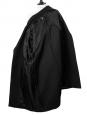 Manteau SONJA en laine vierge et coton brossé noir NEUF Px boutique 2450€ Taille 34