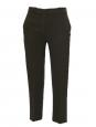 Pantalon court droit en crêpe vert kaki écru Px boutique 500€ Taille 34